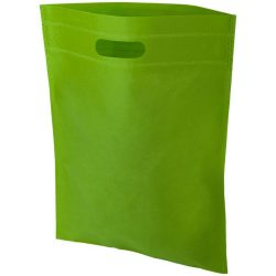 Freedom exhibition tote bag with heat seal, Non woven 80 g/m² Polypropylene, Lime