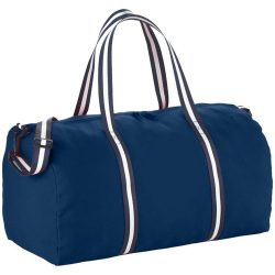 Geanta de umar de voiaj, Everestus, WR, panza 407 g/m² bumbac, albastru, saculet de calatorie si eticheta bagaj incluse