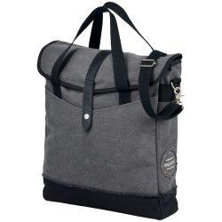 Geanta tote Laptop, Everestus, HN, 14 inch, panza 542 g/m² bumbac si vinyl, gri, negru