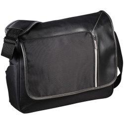 Geanta de postas/Laptop cu buzunar securizat RFID, Everestus, VT, 15.6 inch, 600D PolyCanvas cu Dobby Accents, negru