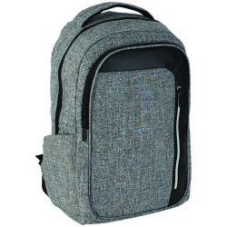 Rucsac Laptop RFID, Everestus, VT, 15.6 inch, 600D poliester cu PU accente de vinyl, grafit, saculet si eticheta bagaj incluse