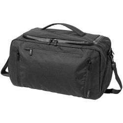 Geanta de umar, Everestus deluxe, 300D poliester cu PU accente de vinyl, negru, saculet de calatorie si eticheta bagaj incluse