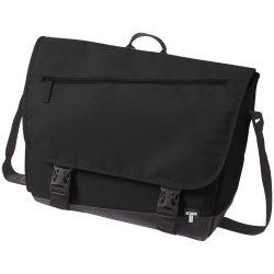 Geanta de Postas, Everestus, CR, 15 inch, 300D poliester cu tarpaulin, negru, saculet de calatorie si eticheta bagaj incluse