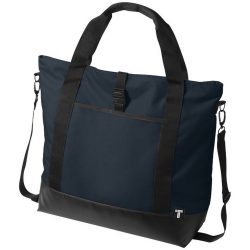 Geanta tote Laptop, Everestus, WR, 15 inch, 300D poliester cu tarpaulin, albastru, saculet si eticheta bagaj incluse