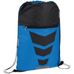 Saculet cu elemente reflectorizante, poliester 210D, Everestus, 8IA19040, albastru, negru