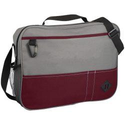 Servieta pentru conferinte, Everestus, HN, 600D poliester, rosu, saculet de calatorie si eticheta bagaj incluse