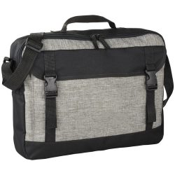 Servieta computer, Everestus, BE, 15.6 inch, 600D poliester, gri, saculet de calatorie si eticheta bagaj incluse