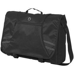 Geanta de postas/computer, Everestus, TK, 15.6 inch, 600D poliester, negru, saculet de calatorie si eticheta bagaj incluse