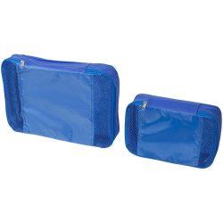 Set cuburi de ambalare pentru bagaje interioare, Everestus, TY04, polipropilena, albastru royal, saculet de calatorie inclus