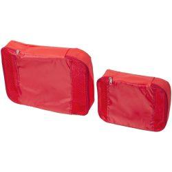 Set cuburi de ambalare pentru bagaje interioare, Everestus, TY03, polipropilena, rosu, saculet de calatorie inclus
