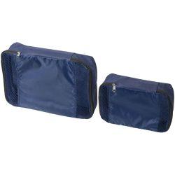 Set cuburi de ambalare pentru bagaje interioare, Everestus, TY02, polipropilena, albastru navy, saculet de calatorie inclus