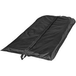Husa de costum pliabila din poliester 190T, fermoar frontal, Everestus, FL02, negru, saculet si eticheta bagaj incluse