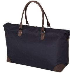 Geanta de voiaj de weekend, Everestus, AE, microfibra si pvc, albastru, saculet de calatorie si eticheta bagaj incluse