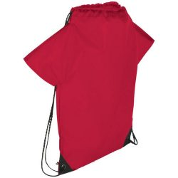 Cheer jersey-shaped drawstring backpack, 210D Polyester, Red