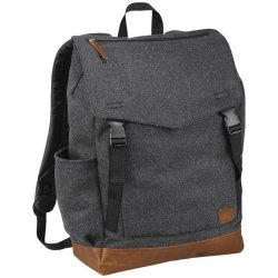 Rucsac Laptop, Field & Co by AleXer, CR, 15 inch, poliester 60%, lana 40%, gri, breloc inclus din piele ecologica si metal