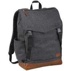 Rucsac Laptop, Field & Co by AleXer, CR, 15 inch, poliester 60%, lana 40%, gri, breloc inclus din piele ecologica si metal