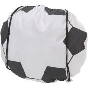 Penalty football-shaped drawstring backpack, 210D Polyester, White