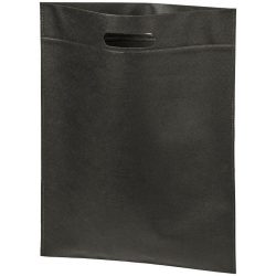 Large freedom convention tote bag, 80g Non-woven polypropylene, solid black