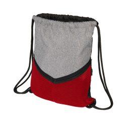 Saculet sport cu snur, poliester 600D, Everestus, 8IA19089, rosu, eticheta de bagaj inclusa