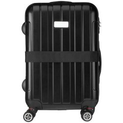 Saul suitcase strap, PP strap with PP buckle, solid black