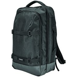 Rucsac Laptop 15 inch, 2-strap, Elleven by AleXer, MI, 600 Ripstop, negru, breloc inclus din piele ecologica si metal