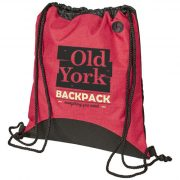 Street drawstring backpack, 600D Polyester, Red
