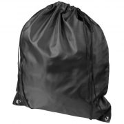 Oriole RPET drawstring backpack, 190T Recycled PET Plastic,  solid black