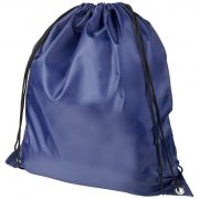 Oriole RPET drawstring backpack, 190T Recycled PET Plastic, Navy