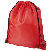 Oriole RPET drawstring backpack, 190T Recycled PET Plastic, Red