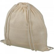 Saculet cu snur, 44x33 cm, Everestus, 20FEB0871, Bumbac, Natur