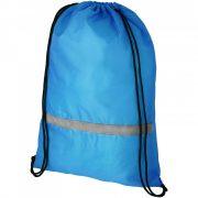 Saculet cu banda reflectorizanta, 44x33 cm, Everestus, 20FEB0875, Poliester 190T, Albastru