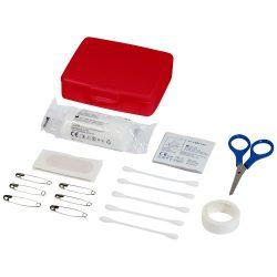 Frederik 24-piece first aid plastic case, PP Plastic, Red