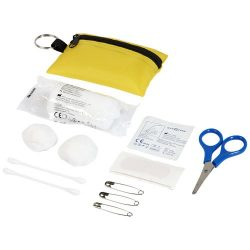 Valdemar 16-piece first aid keyring pouch, 420D polyester, Yellow