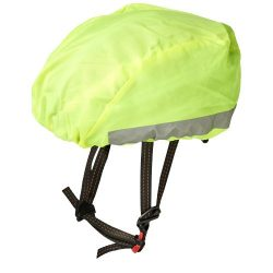 André reflective and waterproof helmet cover, Polyester, neon yellow
