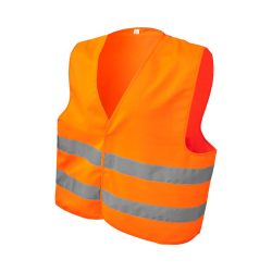 See-me-too safety vest for non-professional use, Polyester, neon orange