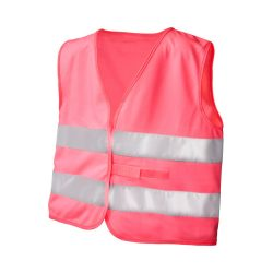 See-me-too safety vest for non-professional use, Polyester, neon pink