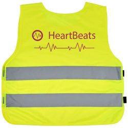 Marie safety vest with hook&loop for kids age 7-12, Polyester, neon yellow