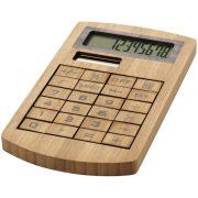 Calculator de birou ecologic cu 8 cifre, Everestus, 20IAN1187, Maro, Bambus