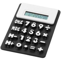 Splitz flexible calculator, Silicone, solid black