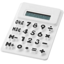 Splitz flexible calculator, Silicone, White