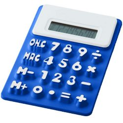 Splitz flexible calculator, Silicone, Royal blue