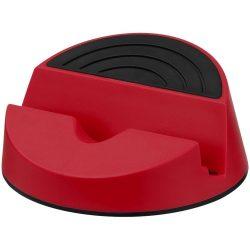 Suport telefon de birou cu design elegant, Everestus, STT086, plastic, rosu, laveta inclusa