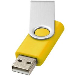 Rotate-basic 1GB USB flash drive, Plastic and Aluminum, Yellow