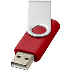 Rotate-basic 4GB USB flash drive, Plastic and Aluminum, Red, Silver