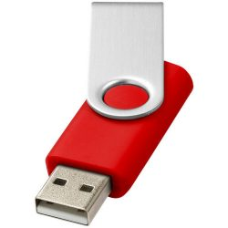 Rotate-basic 4GB USB flash drive, Plastic and Aluminum, Bright Red