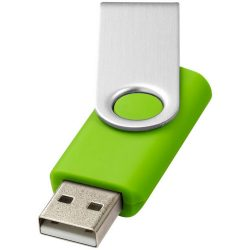 Rotate-basic 4GB USB flash drive, Plastic and Aluminum, Lime, Silver