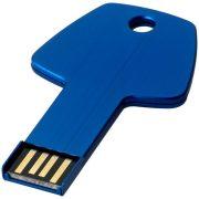 Key 4GB USB flash drive, Aluminum, Blue