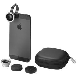 Prisma smartphone camera lenses set, Metal and ABS plastic, solid black
