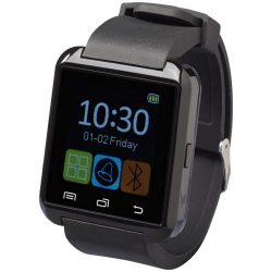 Brains Bluetooth® smartwatch with LCD touchscreen, Silione, solid black
