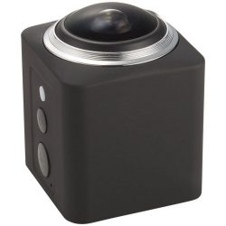 Surround 360° wireless action camera, ABS Plastic, solid black